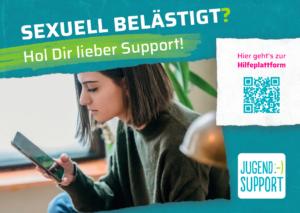 Flyer jugend.support sexuelle Belästigung im Netz