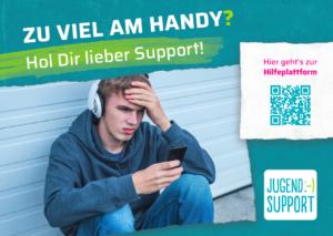 Flyer jugend.support Handysucht Mediensucht