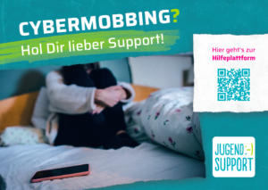 Flyer jugend.support Cybermobbing